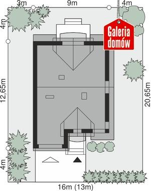 Dom przy Amarantowej 3 - wymiary na działce