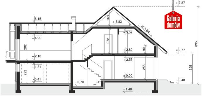 Dom przy Cyprysowej 51 - przekrój