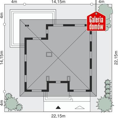 Dom przy Rubinowej 4 - wymiary na działce