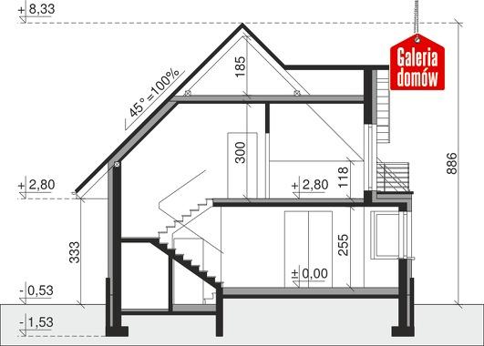Dom przy Sielskiej 5 - przekrój