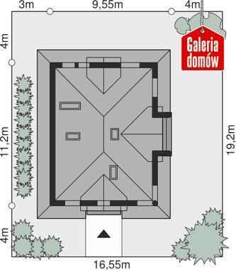Dom przy Sielskiej 5 - wymiary na działce