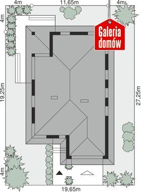Dom przy Pastelowej 4 - wymiary na działce