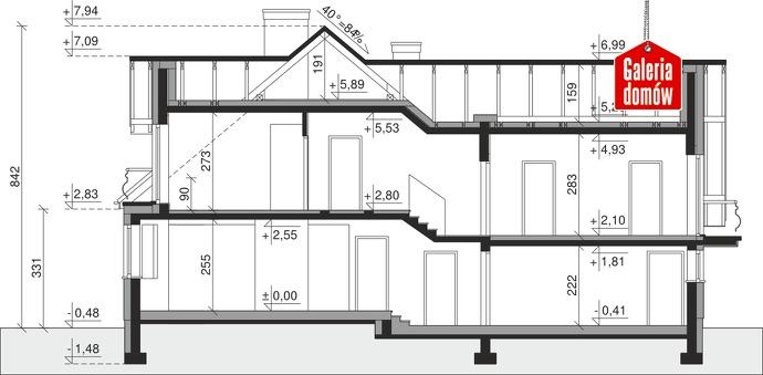 Dom przy Cyprysowej 15 S1 - przekrój
