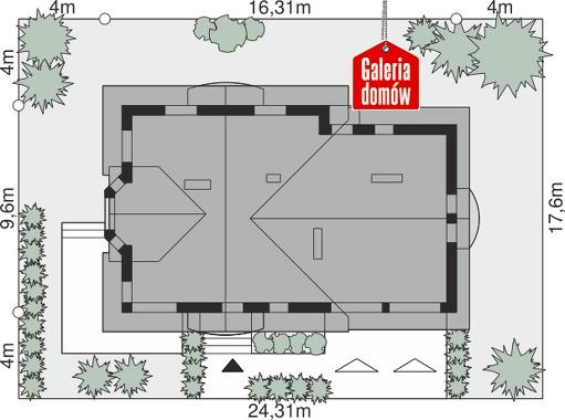 Dom przy Cyprysowej 15 S2 - wymiary na działce