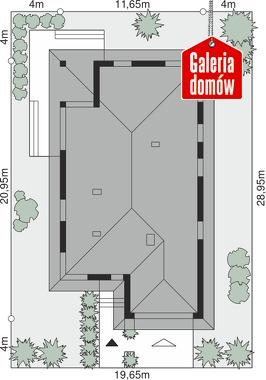 Dom przy Pastelowej 6 - wymiary na działce