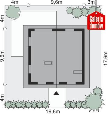 Dom przy Cyprysowej 12 N - wymiary na działce