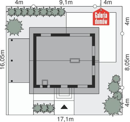 Dom przy Imbirowej 3 N - wymiary na działce