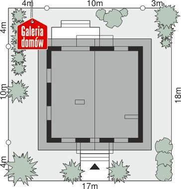 Dom przy Oliwkowej N - wymiary na działce