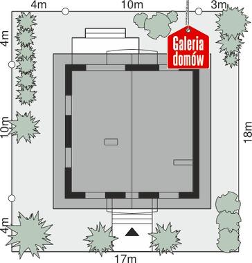 Dom przy Oliwkowej H - wymiary na działce