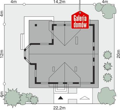 Dom przy Miodowej - wymiary na działce