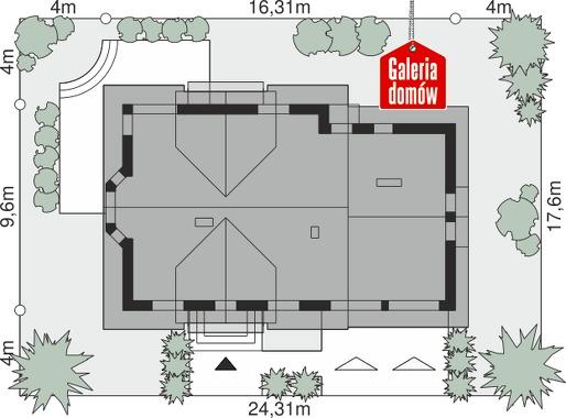 Dom przy Cyprysowej 15 DN - wymiary na działce