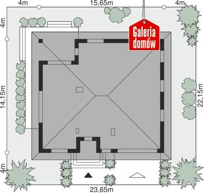 Dom przy Rubinowej 5 - wymiary na działce
