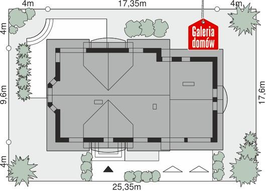 Dom przy Wiosennej 12 - wymiary na działce