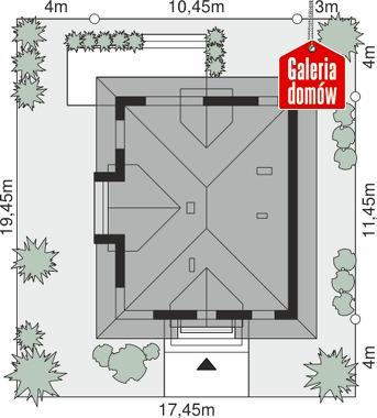 Dom przy Sielskiej 6 N - wymiary na działce