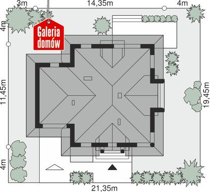 Dom przy Sielskiej 7 - wymiary na działce