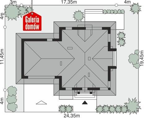 Dom przy Sielskiej 8 - wymiary na działce
