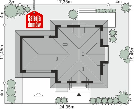 Dom przy Sielskiej 8 N - wymiary na działce