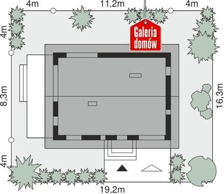 Dom przy Alabastrowej 37 - wymiary na działce