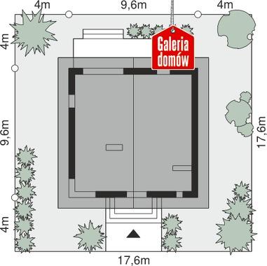 Dom przy Cyprysowej 54 - wymiary na działce