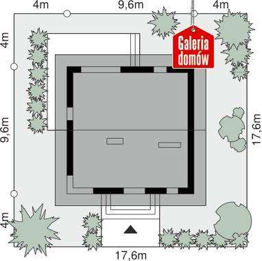 Dom przy Cyprysowej 55 - wymiary na działce