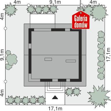 Dom przy Cyprysowej 56 - wymiary na działce