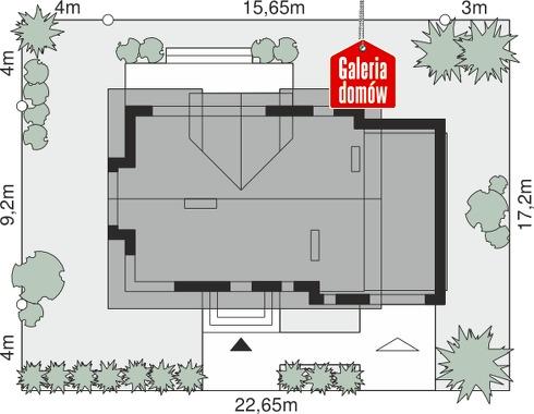 Dom przy Modrzewiowej 15 - wymiary na działce