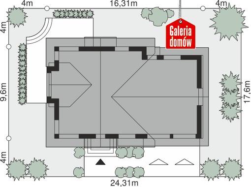 Dom przy Cyprysowej 15 K5 - wymiary na działce