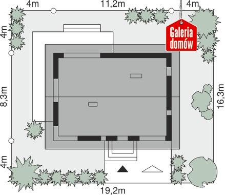 Dom przy Alabastrowej 38 - wymiary na działce