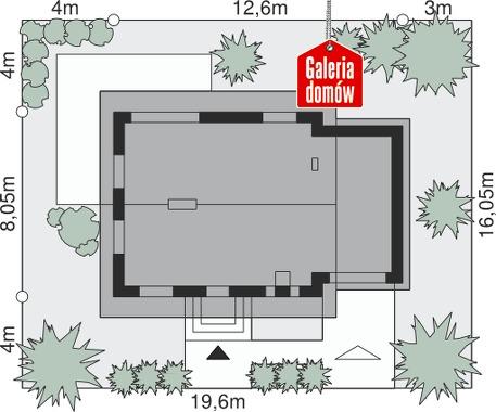 Dom przy Imbirowej 5 N - wymiary na działce