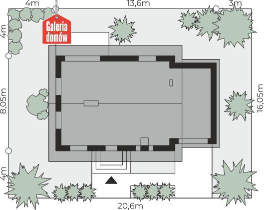 Dom przy Imbirowej 6 N - wymiary na działce