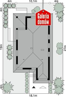 Dom przy Pastelowej 17 bis - wymiary na działce