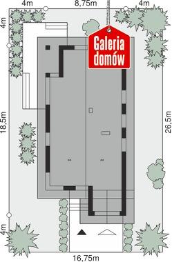 Dom przy Pastelowej 16 D - wymiary na działce