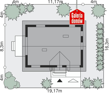 Dom przy Alabastrowej 30 - wymiary na działce
