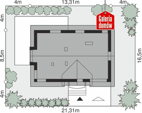 Dom przy Alabastrowej 41 - wymiary na działce