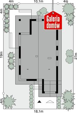 Dom przy Pastelowej 17 D bis - wymiary na działce