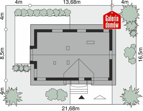 Dom przy Alabastrowej 51 - wymiary na działce