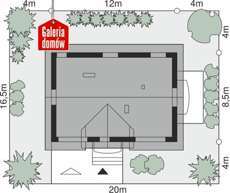 Dom przy Alabastrowej 43 - wymiary na działce