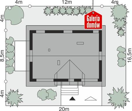 Dom przy Alabastrowej 48 - wymiary na działce
