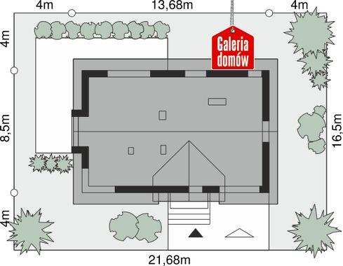 Dom przy Alabastrowej 52 - wymiary na działce