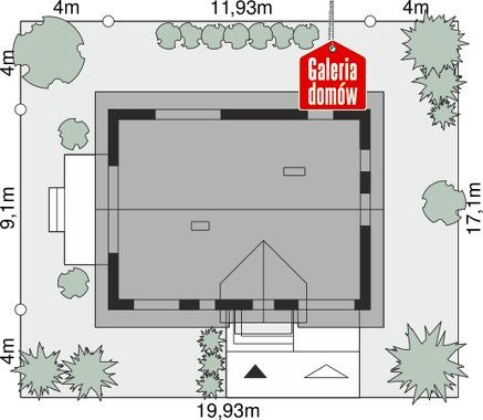 Dom przy Alabastrowej 53 - wymiary na działce