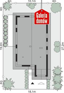 Dom przy Pastelowej 19 D bis - wymiary na działce