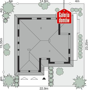 Dom przy Kwiatowej 4 - wymiary na działce