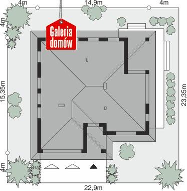 Dom przy Kwiatowej 5 - wymiary na działce