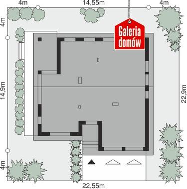 Dom przy Przyjemnej 21 - wymiary na działce