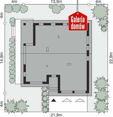 Dom przy Przyjemnej 22 - wymiary na działce