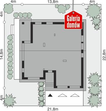 Dom przy Przyjemnej 24 bis - wymiary na działce