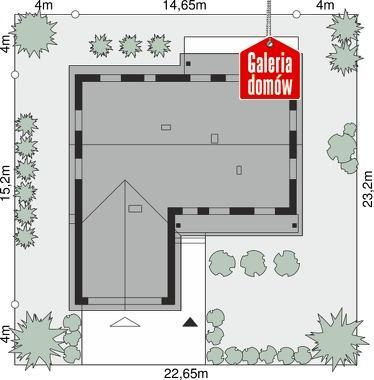 Dom przy Bukowej 27 - wymiary na działce