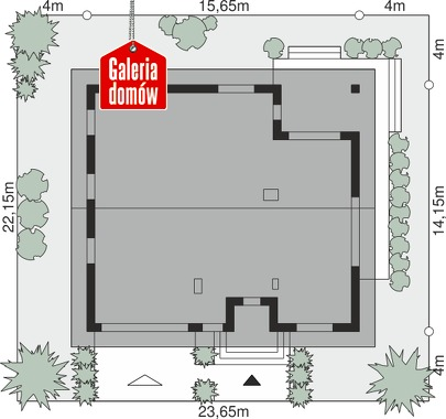 Dom przy Rubinowej 6 - wymiary na działce