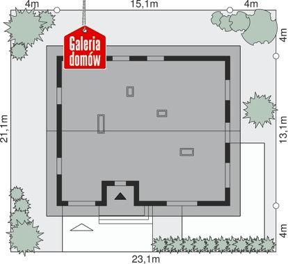 Dom przy Słonecznej 9 - wymiary na działce