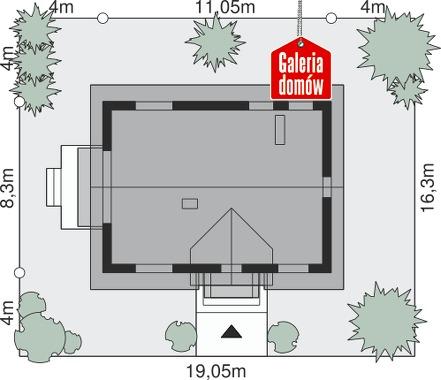 Dom przy Alabastrowej 56 - wymiary na działce